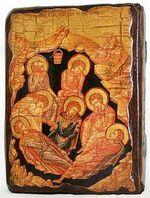 7 отроков Эфесских, икона под старину, сургуч (13 Х 17)
