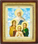 Вера, Надежда, Любовь, и мать их София, икона в деревянной рамке (Д-18пс-70)