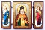 Складень МДФ (159), тройной, Лука Крымский с архангелами, 13 Х 8 см.