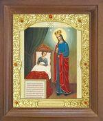 Целительница Б.М. Икона в деревянной рамке с окладом (Д-26псо-77)