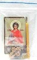 Любовь. Святая мученица. Набор для домашней молитвы (Zip-Lock). Лик, молитва, свечка, ладан, крестик