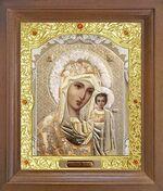 Казанская Б.М. Икона в деревянной рамке с окладом (Д-26псо-08)
