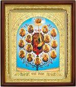Древо Богородицы (Горний Иерусалим), икона в деревянной рамке (Д-18пс-80)