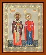Киприан и Устиния. Малая аналойная икона