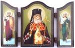Складень МДФ (131), тройной арочный, Лука Крымский, с Архангелами, 13 Х 8,5 см.