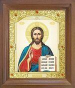 Спаситель. Икона в деревянной рамке с окладом (Д-26псо-82)