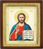 Господь Вседержитель, икона в деревянной рамке (Д-18пс-82)
