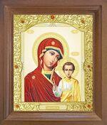 Казанская Б.М. Икона в деревянной рамке с окладом (Д-26псо-83)