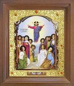 Вознесение Господне. Икона в деревянной рамке с окладом (Д-26псо-86)