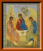 Троица (Рублевская). Средняя аналойная икона