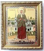 Ксения Петербургская (рост), Икона в багетной рамке 19 Х 22