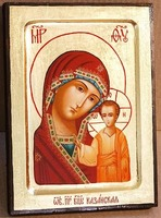 Казанская Б.М., икона Греческая, 17 Х 23
