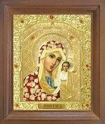 Казанская Б.М. Икона в деревянной рамке с окладом (Д-26псо-09)