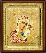 Казанская Б.М.,икона в деревянной рамке (Д-18пс-09)