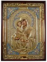 Почаевская Б.М., в ризе, с багетом. Храмовая икона (59 Х 79)