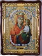 Споручница грешных Б.М., в фигурном киоте, с багетом. Храмовая икона (60 Х 80)