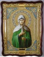 Матрона Московская, в фигурном киоте, с багетом. Храмовая икона (60 Х 80)