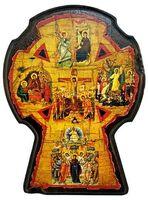 Крест Алексеевский, икона под старину, сургуч (17 Х 23)