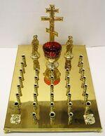 Крышка панихидного стола на 32 свечи, с херувимами