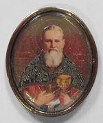 Иоанн Кронштадский. Икона автомобильная овал