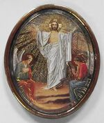 Воскресенье Христово. Икона автомобильная овал