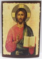 Спаситель (пояс), икона под старину JERUSALEM прямая (11 Х 15)