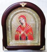 Умягчение злых сердец Б.М. Аналойная арочная икона, цвет, золот.фон