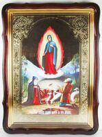 Почаевская Б.М., Явление, в фигурном киоте, с багетом. Храмовая икона 60 Х 80 см.