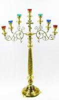 Семисвечник запрестольный средний, с херувимами, крестом и распятием (ЛУ)