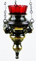 Лампада подвесная, с Херувимами, литье, чернение (ЗЛ)