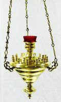 Лампада подвесная (кандило среднее) на 18 свечей, латунь, литье, давление (ЗЛ)