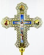 Крест запрестольный металл (01) резной