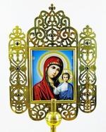 Икона запрестольная (02), резная, Казанская Б.М., Николай Чудотворец
