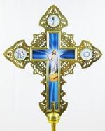 Крест запрестольный металл (02) резной