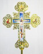 Крест запрестольный металл (04) резной
