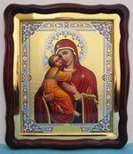 Владимирская Б.М.(17), в фигурном киоте, с багетом. Храмовая икона (43 Х 50)