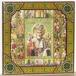 Николай Чудотворец, с иконограф., икона подарочная (27 Х 27)