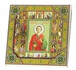 Пантелеймон, с иконограф., икона подарочная (27 Х 27)