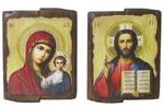 Венчальная пара, 2 иконы под старину 22 Х 30 см.
