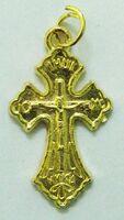 Крест нательный металл (2-29) давленый цвет золото. Упак. 100 шт.