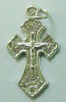 Крест нательный металл (2-29) давленый цвет серебро. Упак. 100 шт.