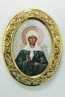 Матрона Московская. Икона настольная малая, овал.