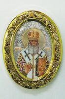Святитель Лука, митра. Икона настольная малая, овал.