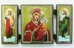 Складень МДФ (38), тройной, Скоропослушница Б.М. с архангелами, 13 Х 7,5 см.