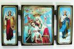 Складень МДФ (40), тройной, Достойно есть Б.М. с архангелами, 13 Х 7,5 см.