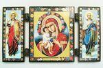 Складень МДФ (51), тройной, Жировицкая Б.М. с архангелами, 13 Х 7,5 см.