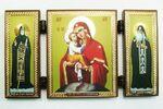 Складень МДФ (50), тройной, Почаевская Б.М. с Предстоящими, 13 Х 7,5 см.