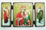 Складень МДФ (49), тройной, Иверская Б.М. с архангелами, 13 Х 7,5 см.