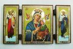 Складень МДФ (45), тройной, Страстная Б.М. с архангелами, 13 Х 7,5 см.
