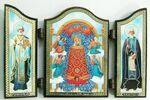 Складень МДФ (64), тройной арочный, Прибавление ума Б.М., с Предстоящими, 13 Х 8,5 см.